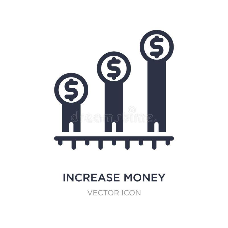 ícone do dinheiro do aumento no fundo branco Ilustração simples do elemento do conceito do negócio e da finança ilustração royalty free