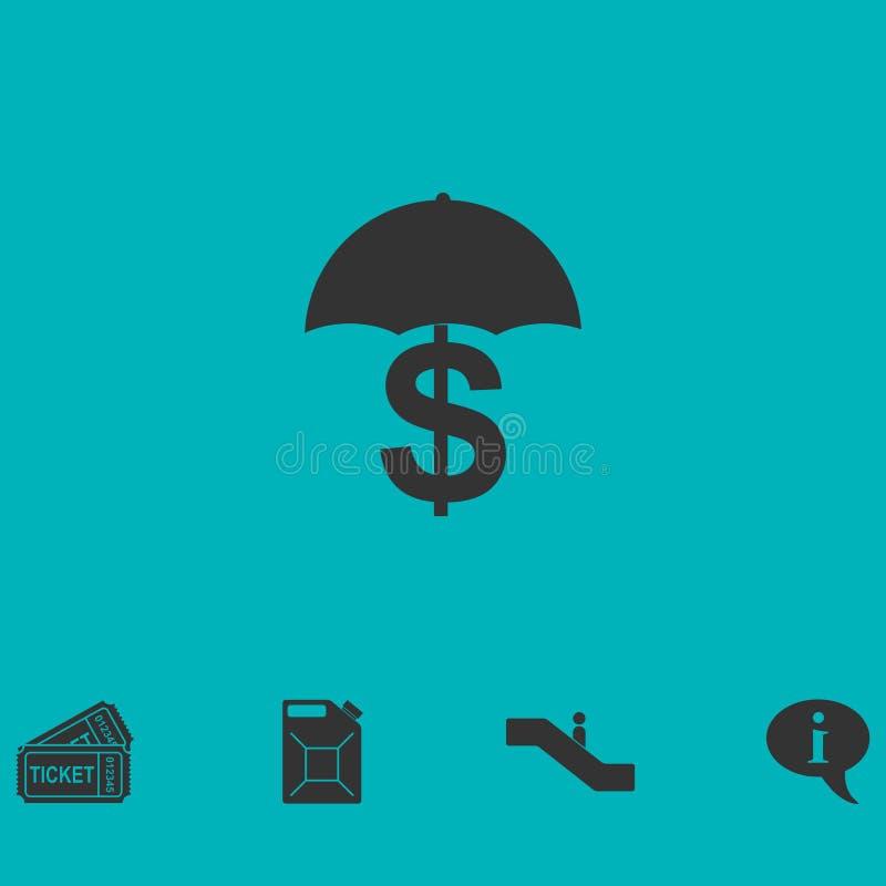 Ícone do dinheiro da preservação e de proteção horizontalmente ilustração royalty free