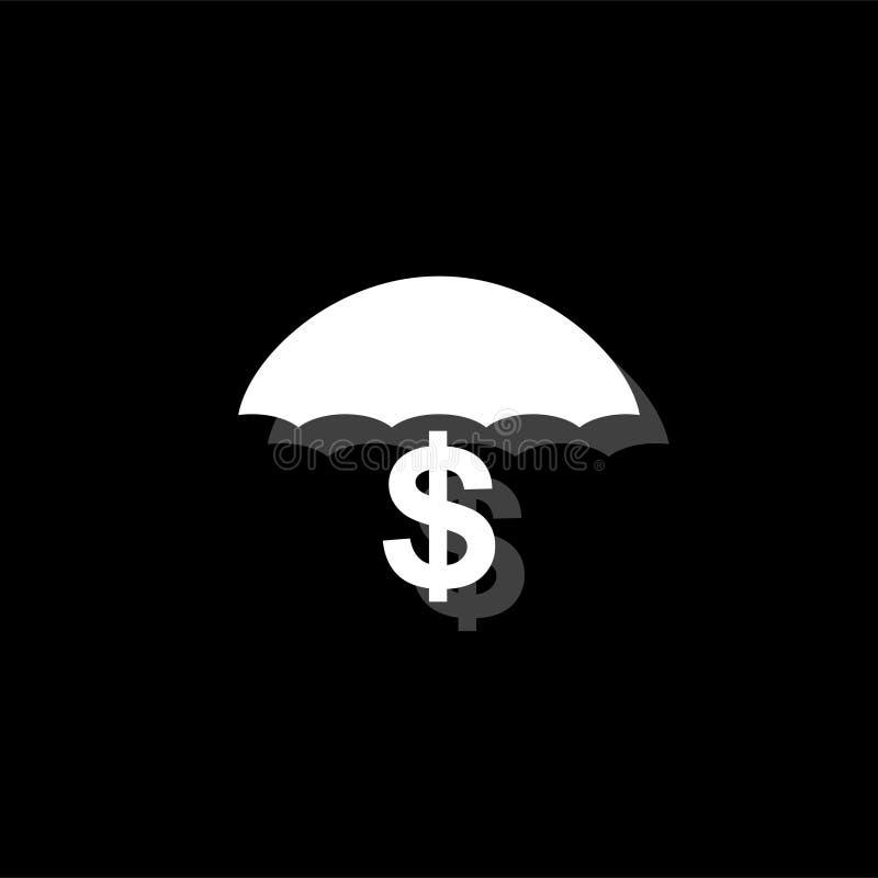 Ícone do dinheiro da preservação e de proteção horizontalmente ilustração stock
