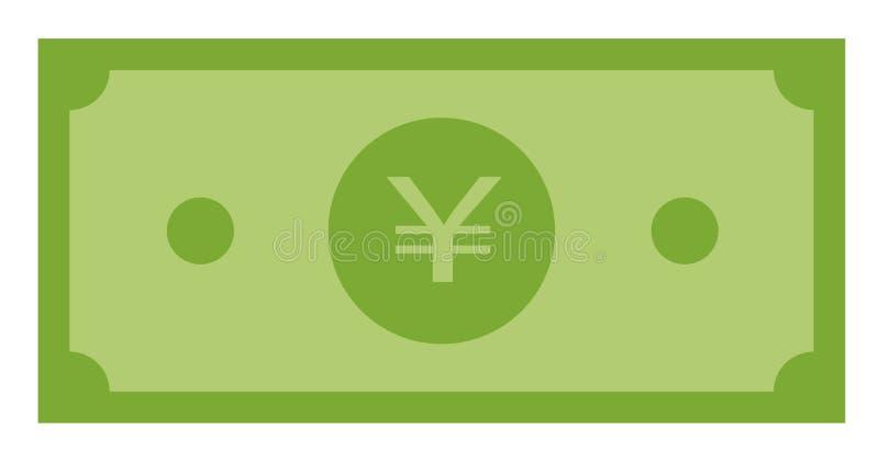Ícone do dinheiro de Yuan no fundo branco Estilo liso ícone para seu projeto do site, logotipo do papel do yuan, app, UI Símbolo  ilustração do vetor