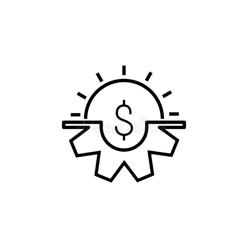Ícone do dinheiro Elemento do ícone popular da finança Projeto gráfico da qualidade superior Sinais, ícone para Web site, desig d fotos de stock