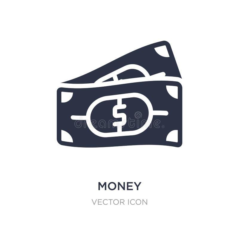 ícone do dinheiro no fundo branco Ilustração simples do elemento do conceito da economia de Digitas ilustração stock