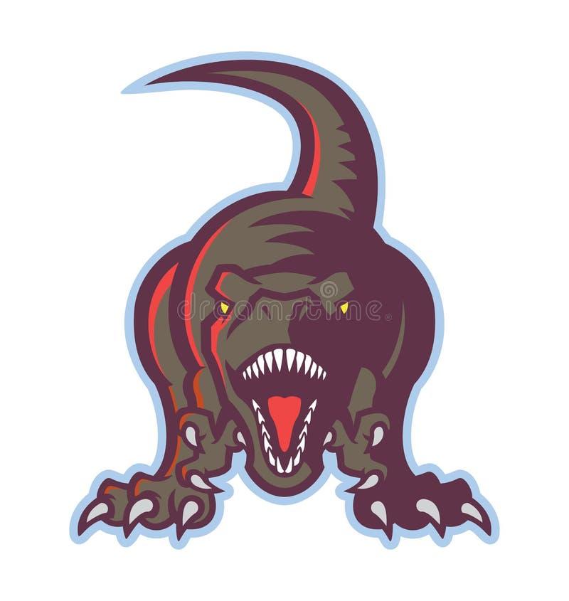 Ícone do dinossauro ilustração royalty free