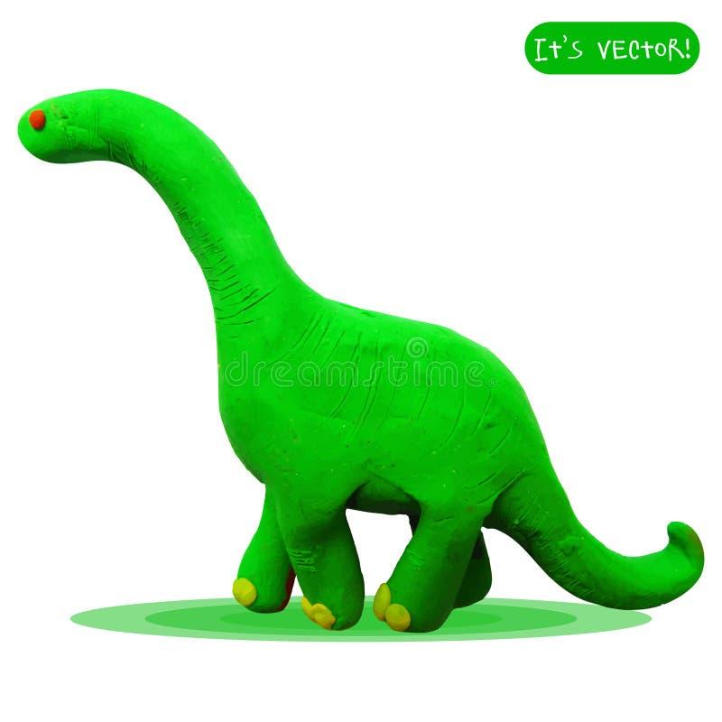 Ícone do diplodocus do plasticine ilustração do vetor