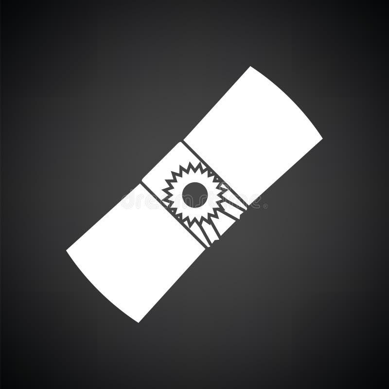 Ícone do diploma ilustração do vetor
