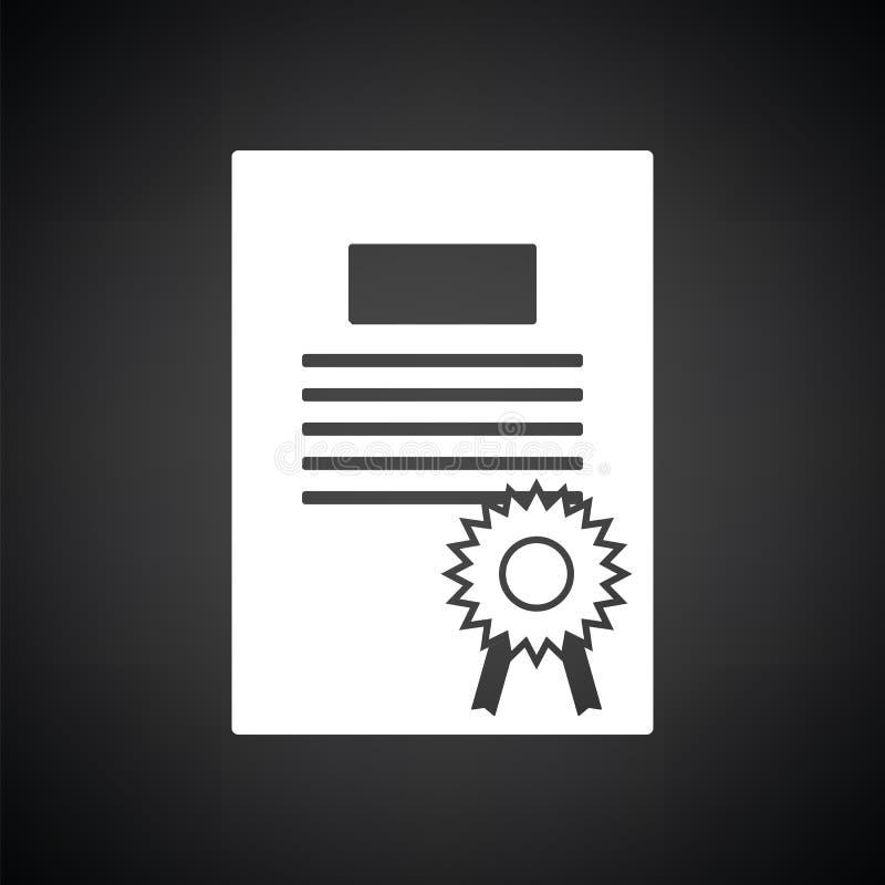 Ícone do diploma ilustração stock