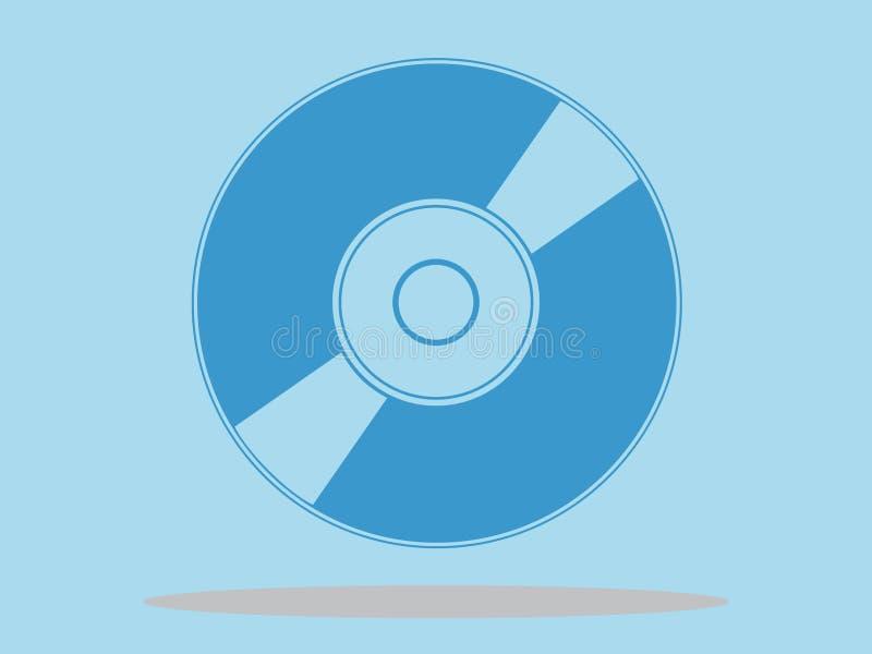 Ícone do disco do CD DVD, ilustração do vetor, projeto mínimo ilustração royalty free