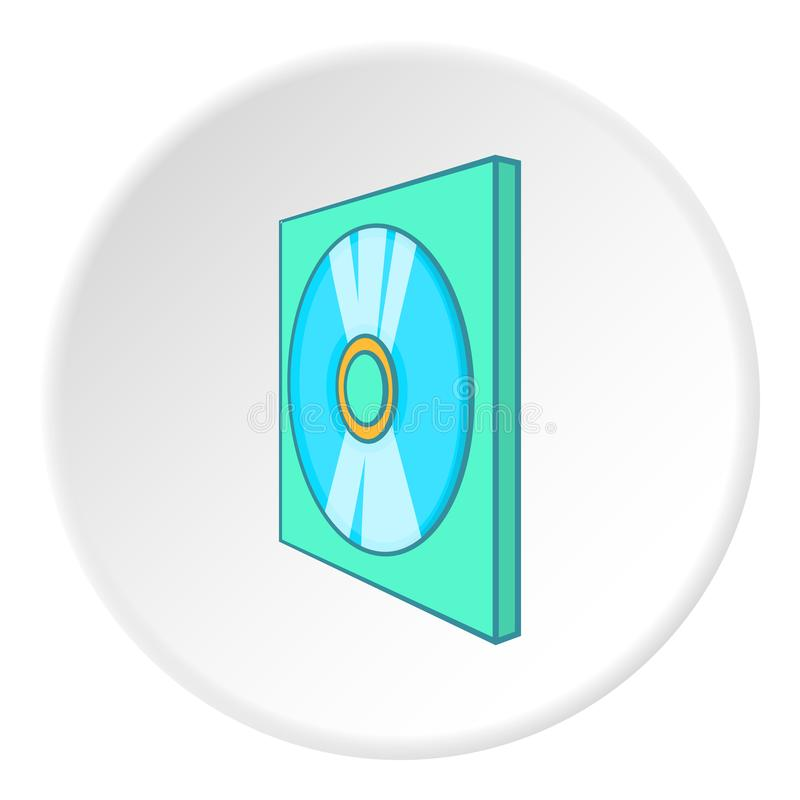 Ícone do disco dos jogos, estilo dos desenhos animados ilustração royalty free