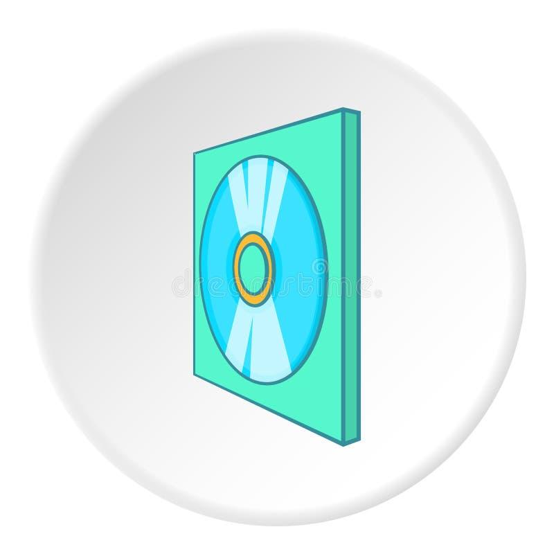 Ícone do disco dos jogos, estilo dos desenhos animados ilustração stock
