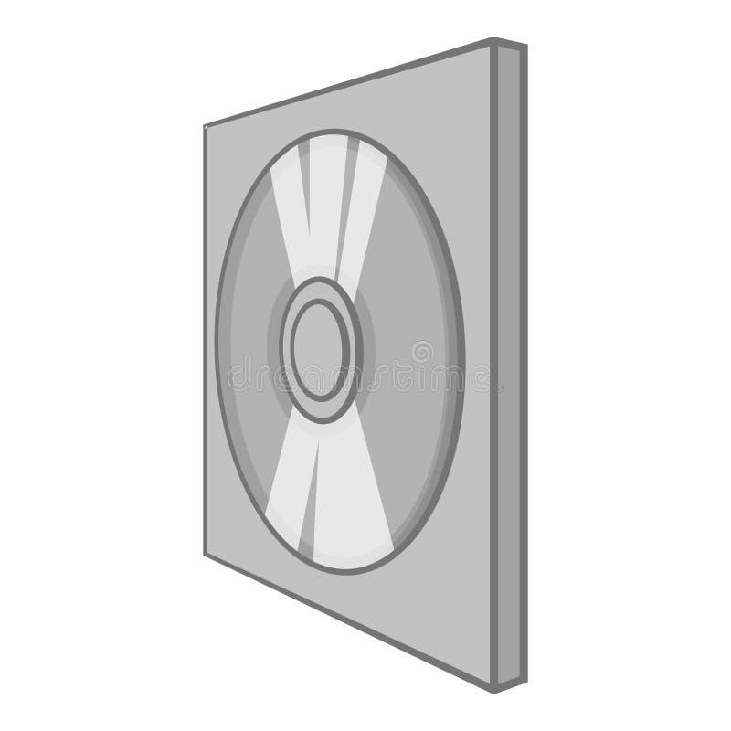 Ícone do disco dos jogos, estilo monocromático preto ilustração do vetor