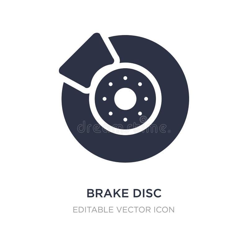 ícone do disco do freio no fundo branco Ilustração simples do elemento do conceito do transporte ilustração stock
