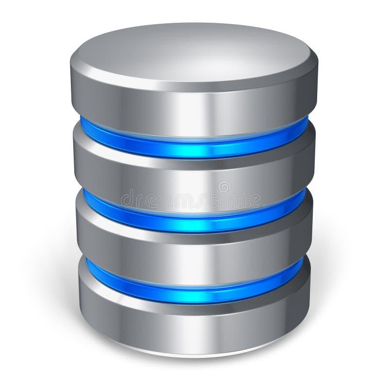 Ícone do disco rígido e da base de dados ilustração stock