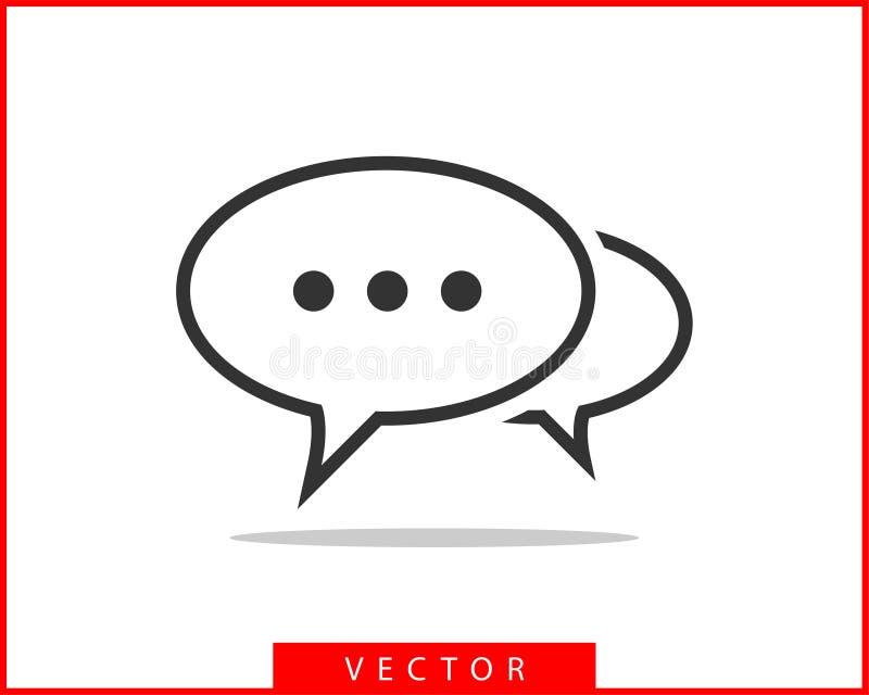 Ícone do discurso da bolha da conversa Elementos vazios vazios do projeto do vetor das bolhas Bate-papo na linha molde do símbolo ilustração royalty free