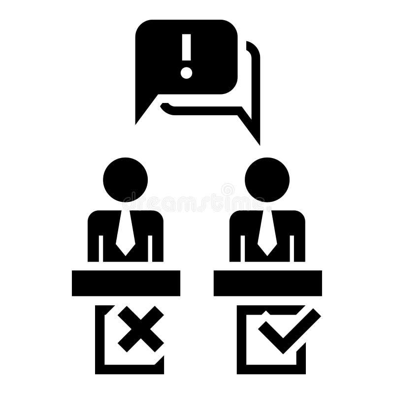 Ícone do discurso do debate político, estilo simples ilustração royalty free