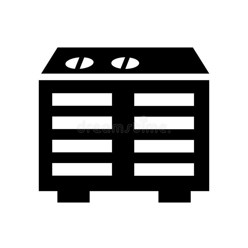 Ícone do dispositivo de aquecimento  ilustração do vetor