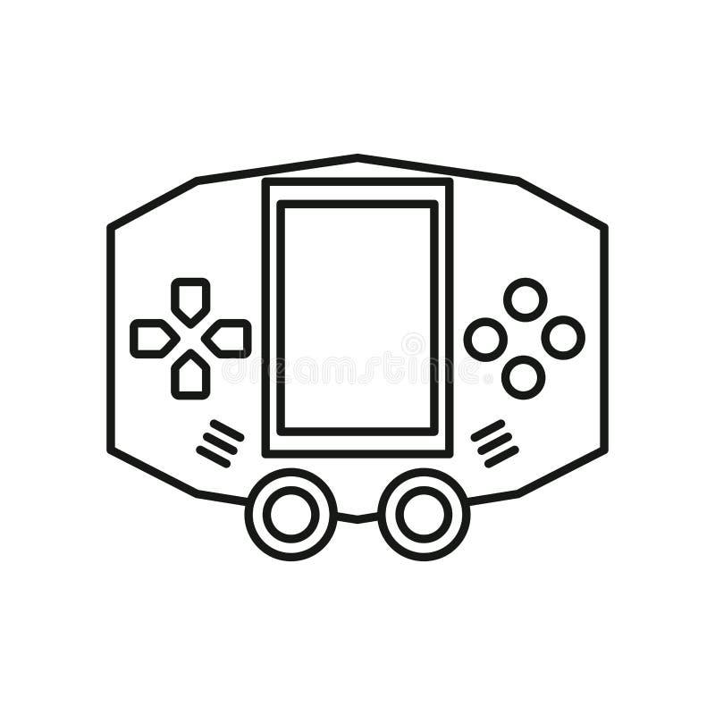 Ícone do dispositivo portátil para jogos de vídeo imagem de stock royalty free
