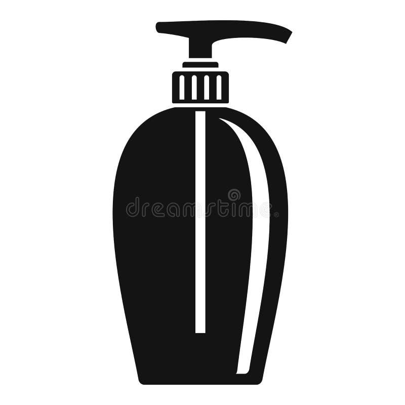 Ícone do distribuidor do sabão, estilo simples ilustração stock