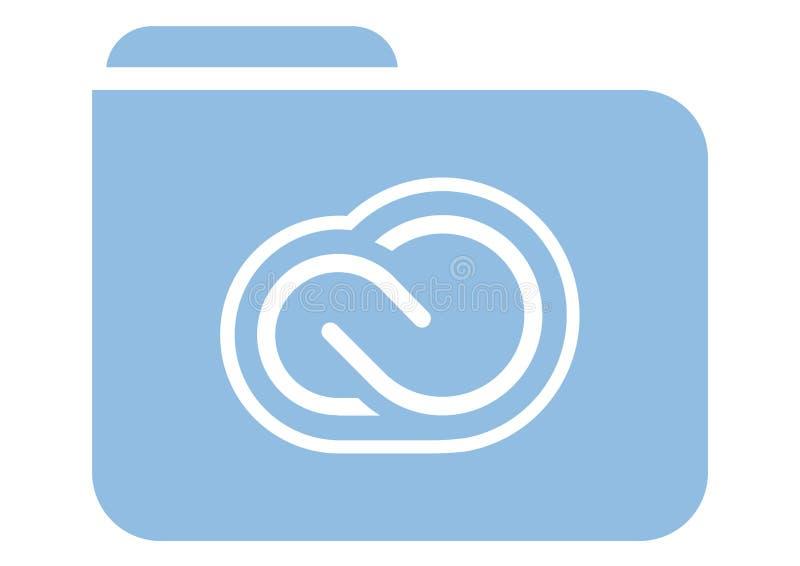 Ícone do dobrador de arquivos ilustração stock