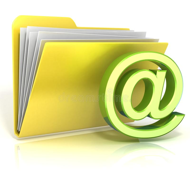 Ícone do dobrador do símbolo do email ilustração stock