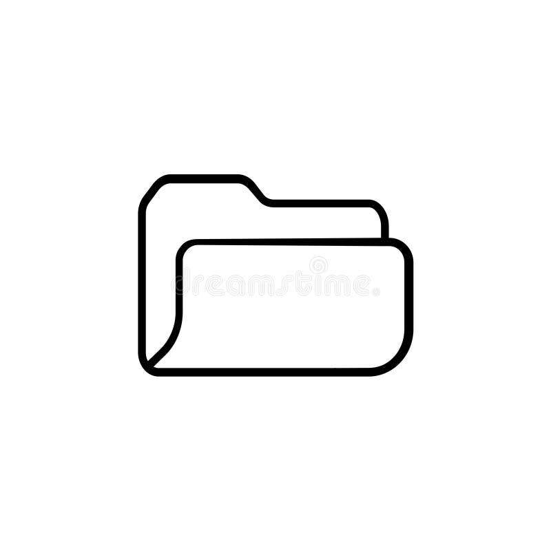Ícone do dobrador Símbolo da ilustração do vetor ilustração royalty free
