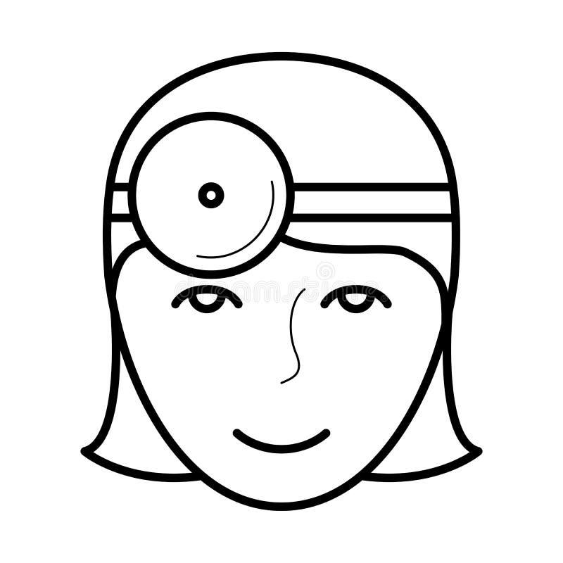 Ícone do doutor de olho, ilustração do vetor ilustração do vetor