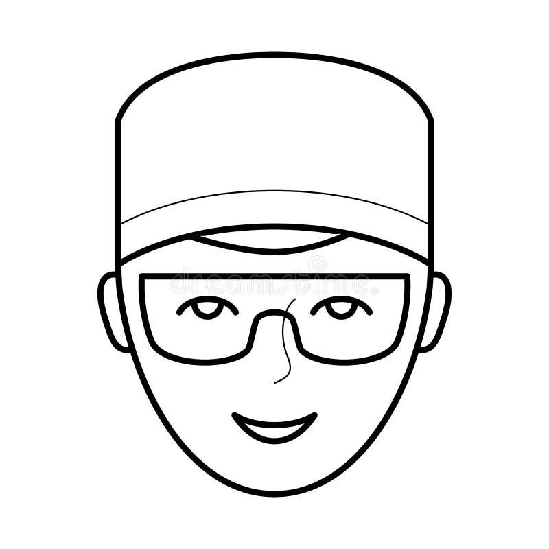 Ícone do doutor do dentista, ilustração do vetor ilustração stock