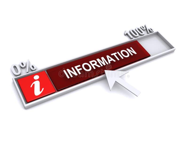 Ícone do download da informação ilustração do vetor