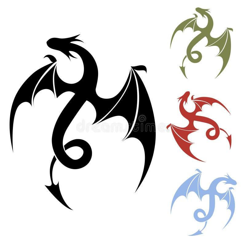 Ícone do dragão ilustração royalty free