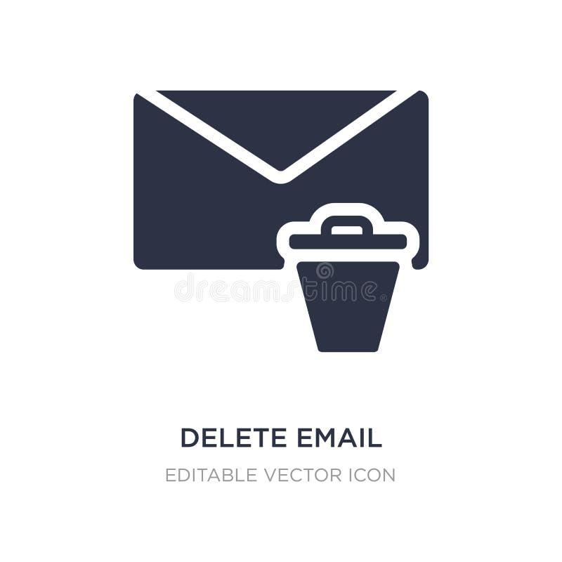 ícone do e-mail da supressão no fundo branco Ilustração simples do elemento do conceito das comunicações ilustração do vetor