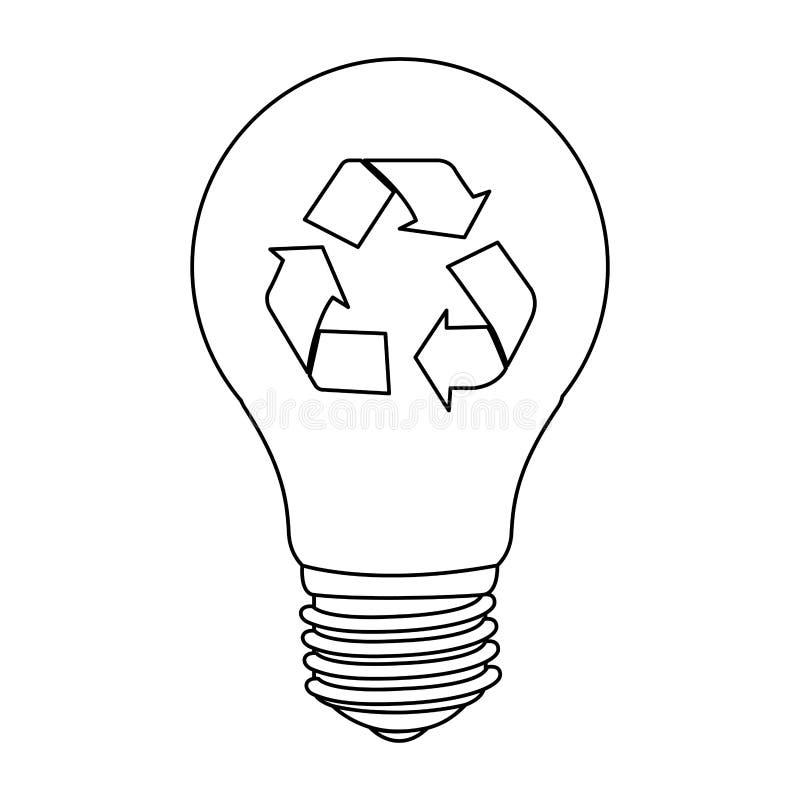 ícone do eco das economias do bulbo ilustração royalty free