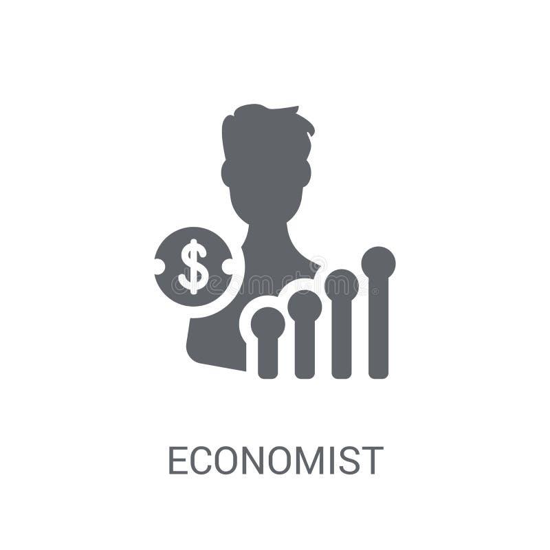 Ícone do economista Conceito na moda do logotipo do economista no backgroun branco ilustração stock