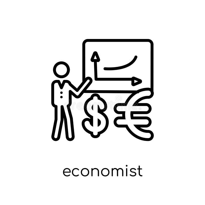 Ícone do economista Ícone linear liso moderno na moda do economista do vetor ilustração stock