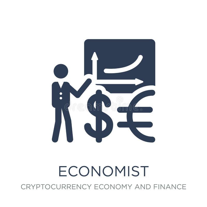 Ícone do economista Ícone liso na moda do economista do vetor no backg branco ilustração stock