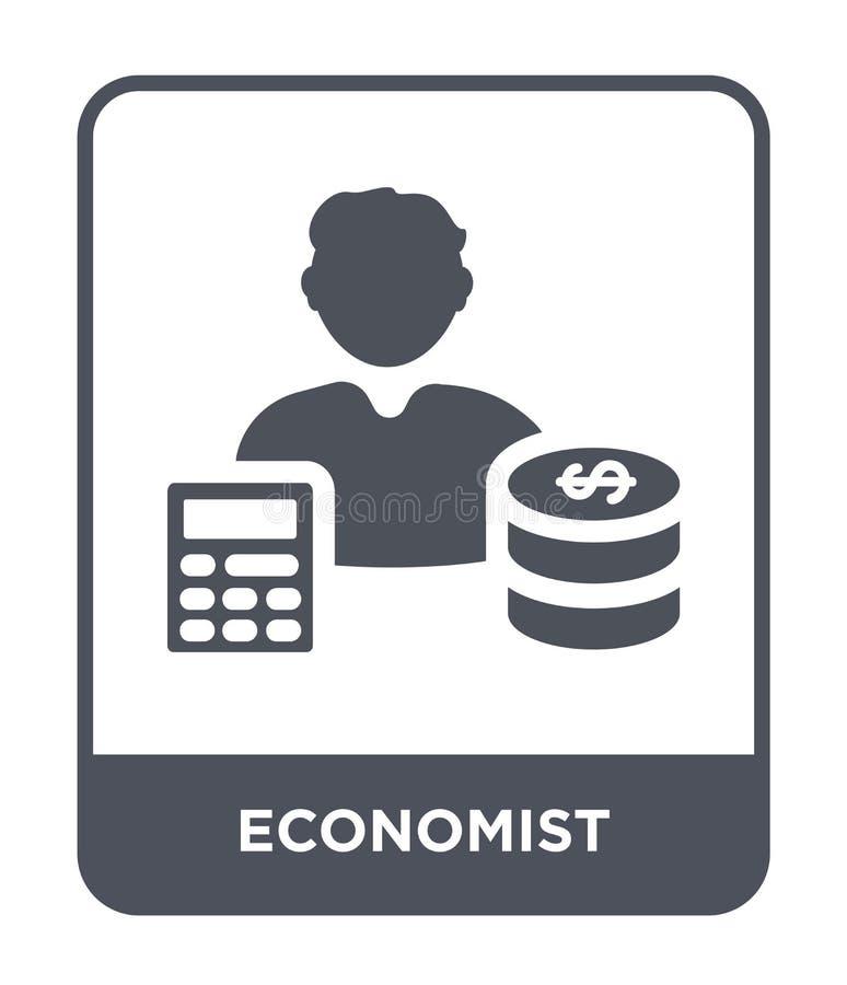 ícone do economista no estilo na moda do projeto ícone do economista isolado no fundo branco plano simples e moderno do ícone do  ilustração royalty free