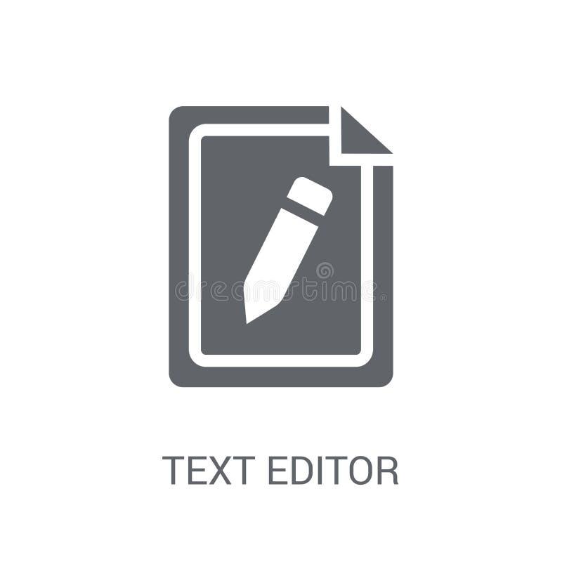 Ícone do editor de texto  ilustração stock