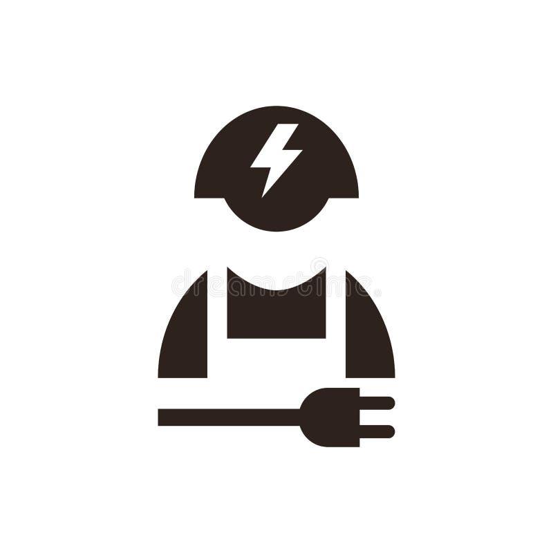 Ícone do eletricista ilustração royalty free