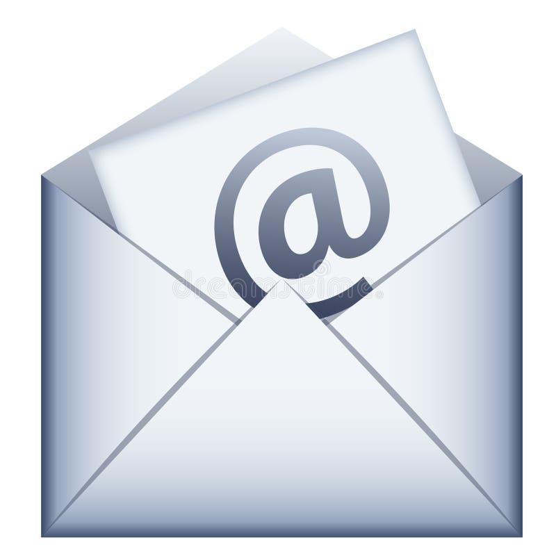 Ícone do email ilustração stock