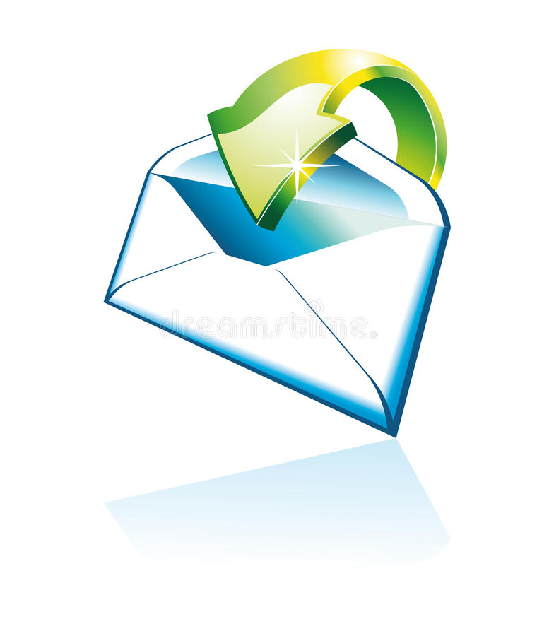 ícone do email 3D ilustração stock