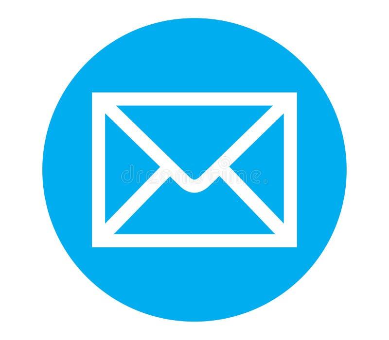 Ícone Do Email Com Fundo Azul Ilustração Stock - Ilustração de fundo, email: 82256524