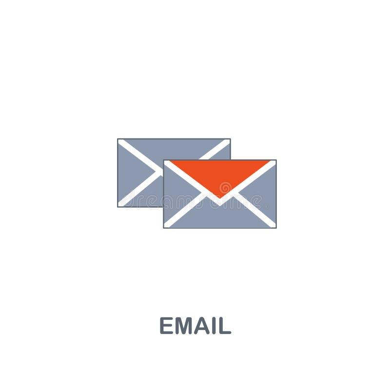 Ícone do email Projeto superior do estilo de duas cores do contato nós coleção dos ícones Ícone perfeito do e-mail do pixel para  ilustração royalty free
