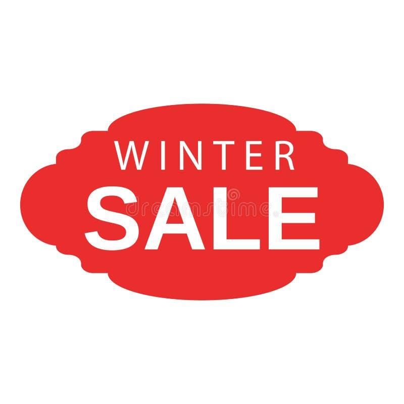 Ícone do emblema da venda do inverno, estilo isométrico ilustração stock
