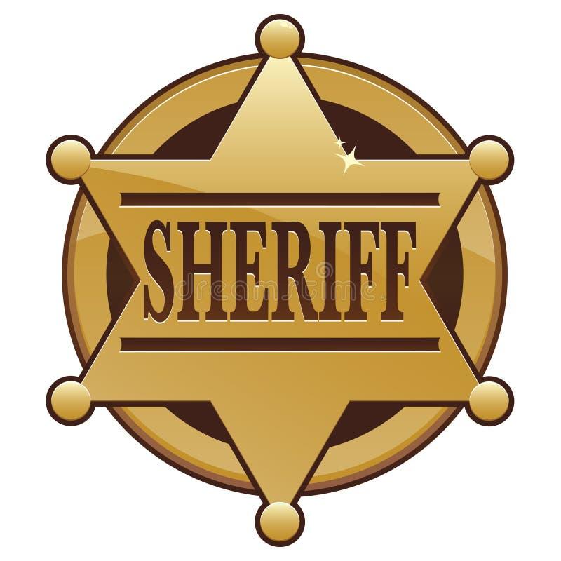 Ícone do emblema do xerife ilustração do vetor