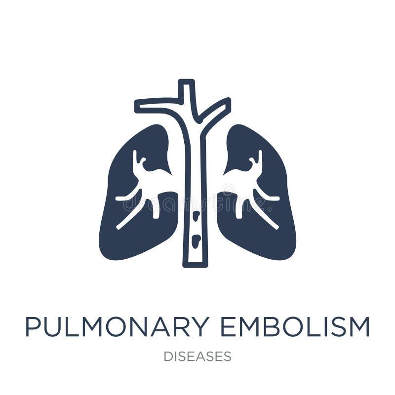 Ícone do embolismo pulmonar Embolismo pulmonar i do vetor liso na moda ilustração royalty free