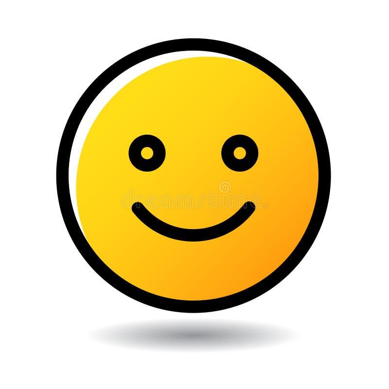Ícone do emoji do emoticon da cara do sorriso ilustração do vetor