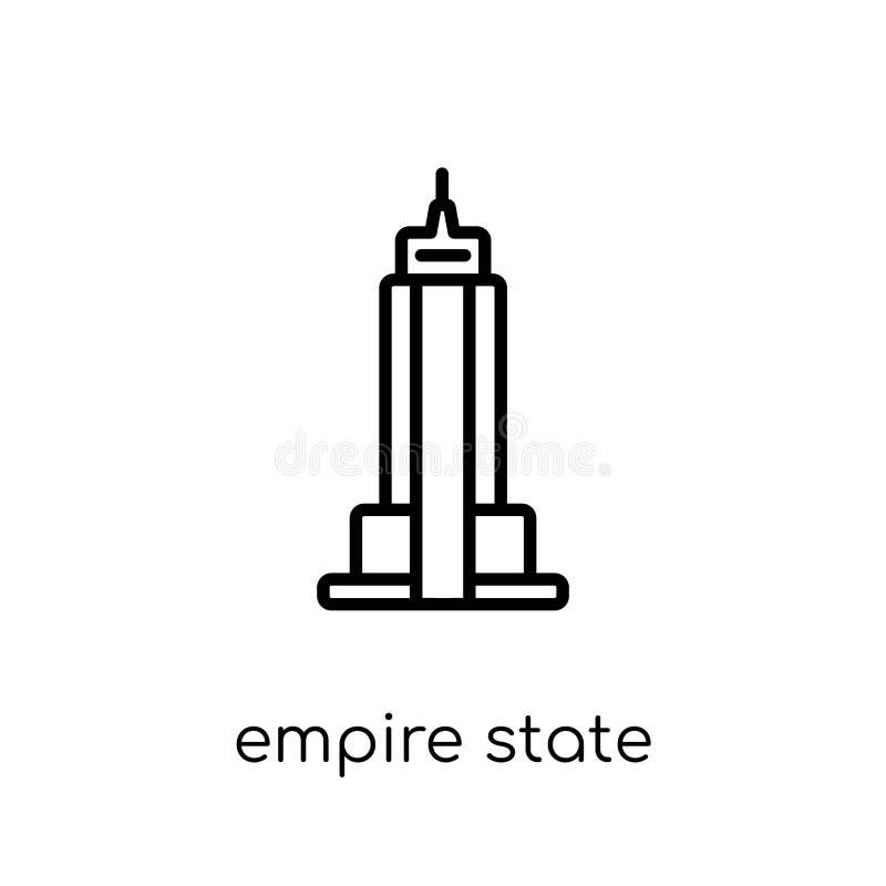 Ícone do Empire State Building Vetor linear liso moderno na moda Emp ilustração royalty free