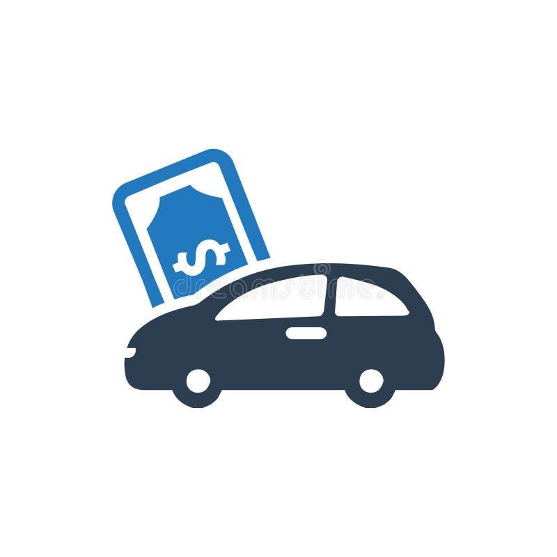 Ícone do empréstimo automóvel ilustração stock