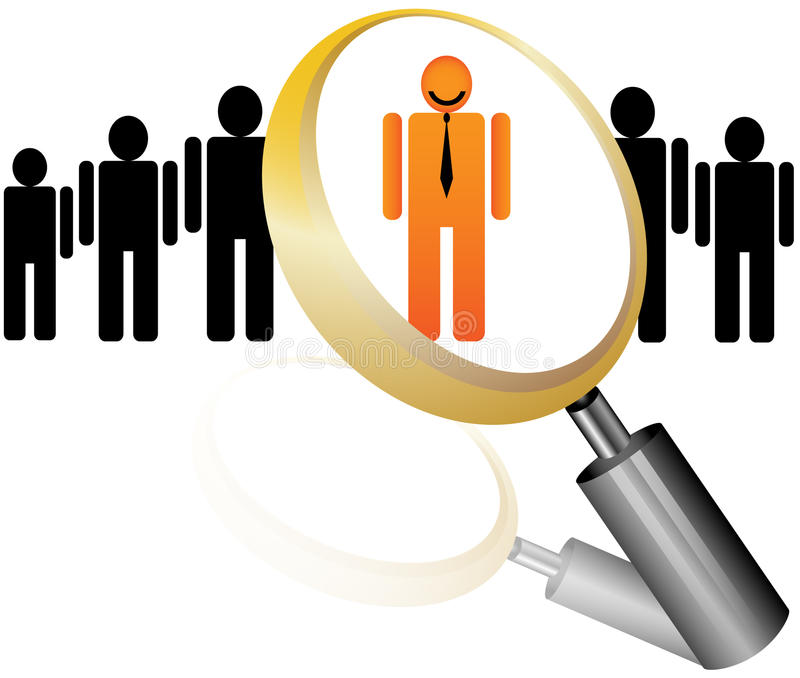 Ícone do empregado para a agência do recrutamento ilustração stock
