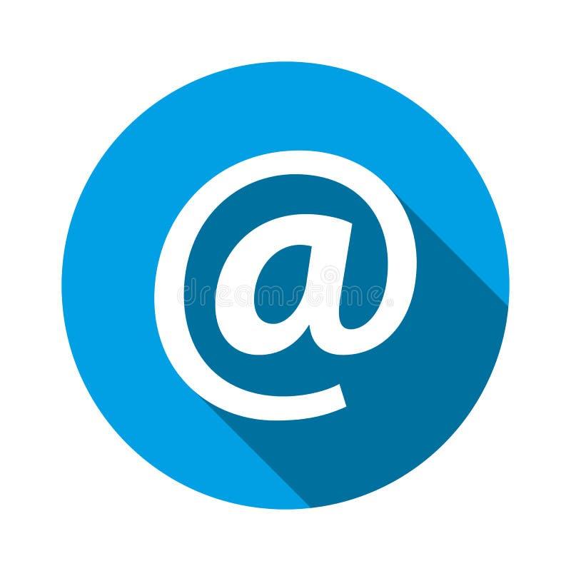 Ícone do endereço email Ilustração do vetor No símbolo do sinal para o projeto gráfico, logotipo, site, meio social, app móvel, i ilustração royalty free