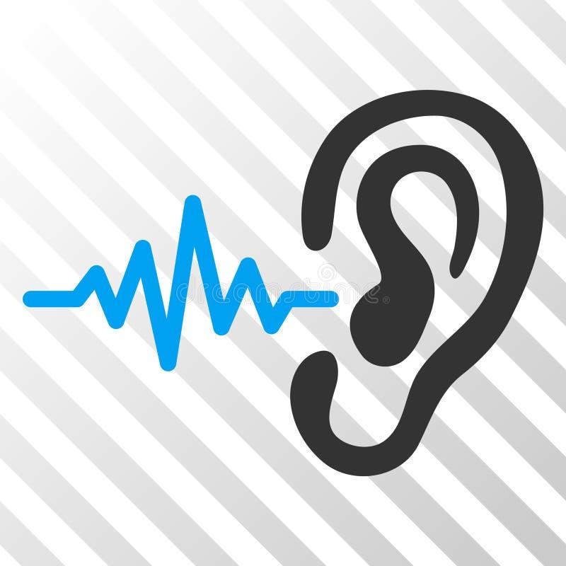 Ícone do EPS do vetor da audição ilustração stock
