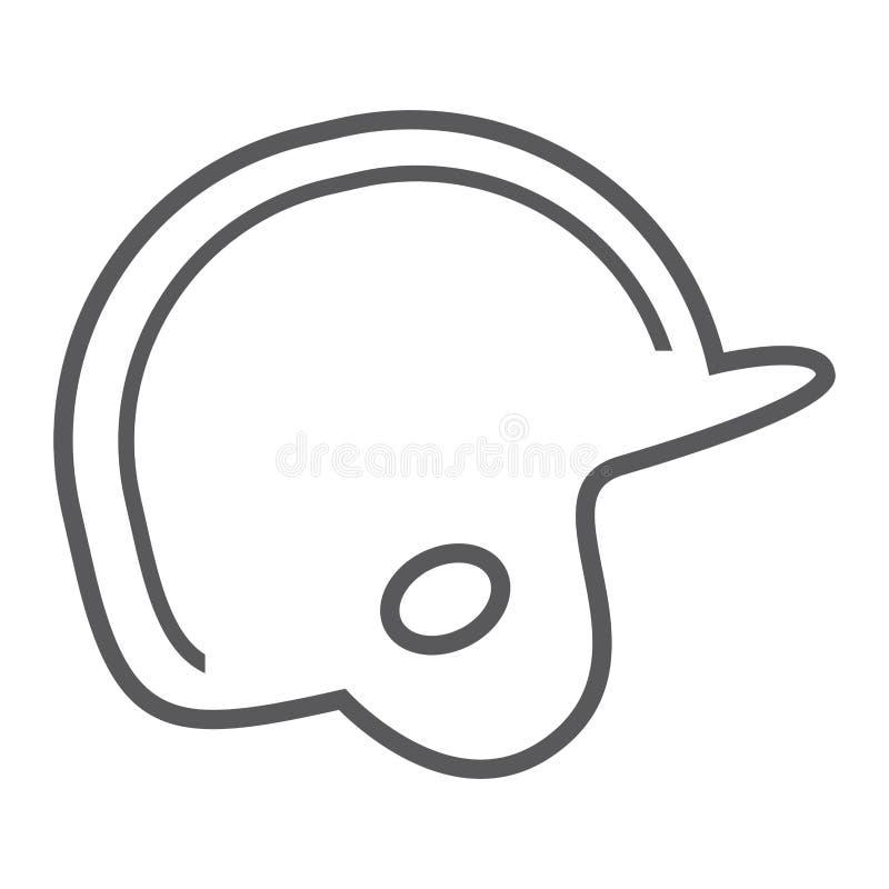 Ícone do equipamento da proteção do capacete do basebol ilustração royalty free